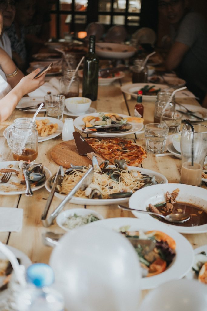 Variety of food on a table